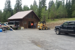 Prepairing our warming shelter for concrete floor